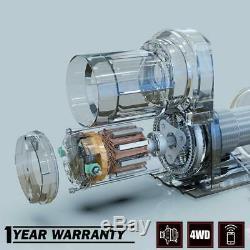 X-bull 12v 3000lbs / 1361kgs Treuil Électrique Synthétique Corde 10meter Sans Fil Vtt