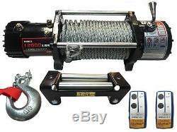X-bull 12v Câble D'acier Électrique Winch 12000 Lb Capacité De Charge