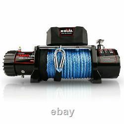 X-bull 13000lbs Treuil Électrique Remorque De Remorquage Synthétique Télécommande Hors Route#