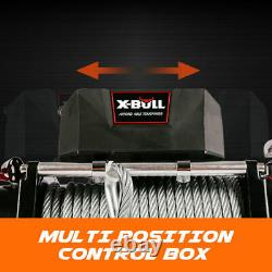 X-bull Treuil Électrique 12000lbs Recovery Steel Cable Truck Remote Control Utv Atv