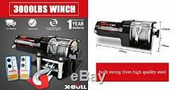 Xbull De 12v Électrique Atv Winch 2 Avec Télécommande Et Fort Câble D'acier